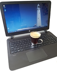 Coffee spilled on laptop