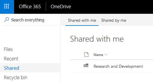 Microsoft OneDrive - shared files or folders
