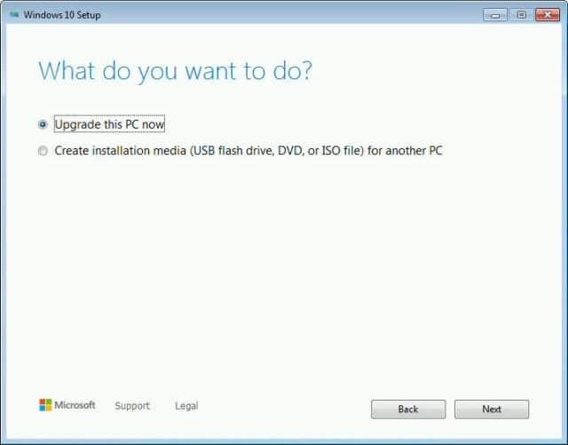 Upgrade Microsoft Windows 7 to 10
